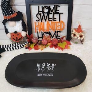 Rae Dunn Happy Halloween Skeleton Large Platter